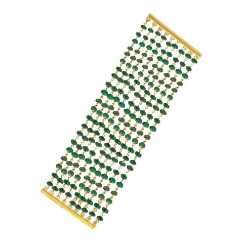 Liv Oliver 18K Gold Multi Strand Bracelet