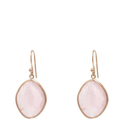 Liv Oliver 18k Rose Gold Quartz Oval Earrings