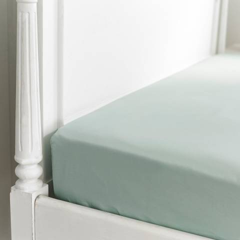 The Lyndon Company 800TC King Fitted Sheet, Duck Egg