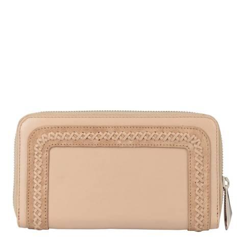 Amanda Wakeley Sand Leather/Suede Purse