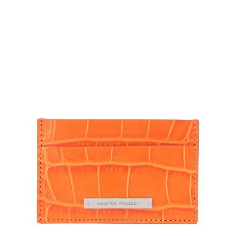 Amanda Wakeley Marrakech Croc Leather Card Holder