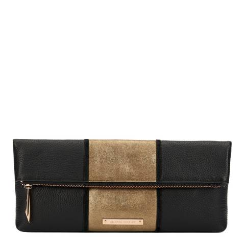 Amanda Wakeley Black/Mustang Leather Stripe Hoffman Bag