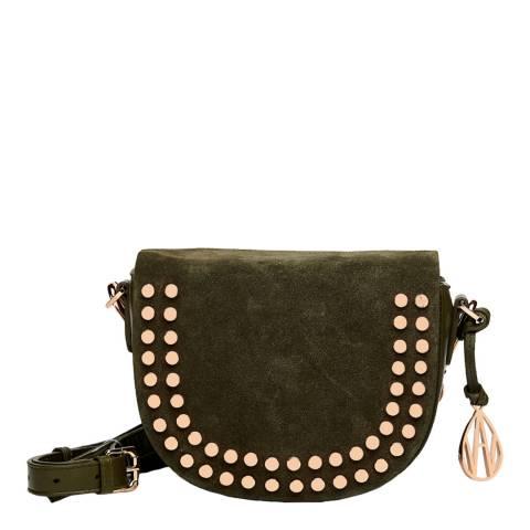 Amanda Wakeley Khaki Leather Midi Cooper Bag