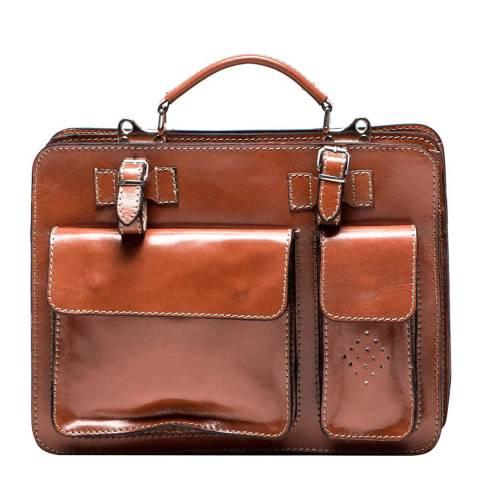 Luisa Vannini Cognac Luisa Vannini Top Handle Bag