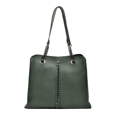 Luisa Vannini Verde Top Handle Bag