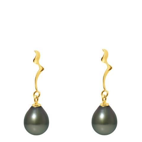 Ateliers Saint Germain Black Tahiti Pearl Fantasy Drop Earrings 9-10mm