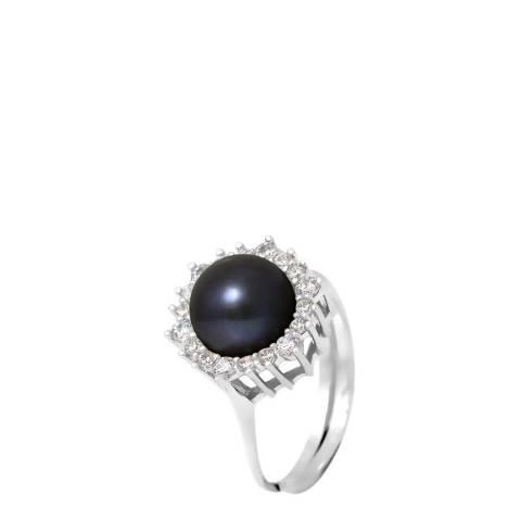 Ateliers Saint Germain Black Pearl Solitaire Ring 8-9mm