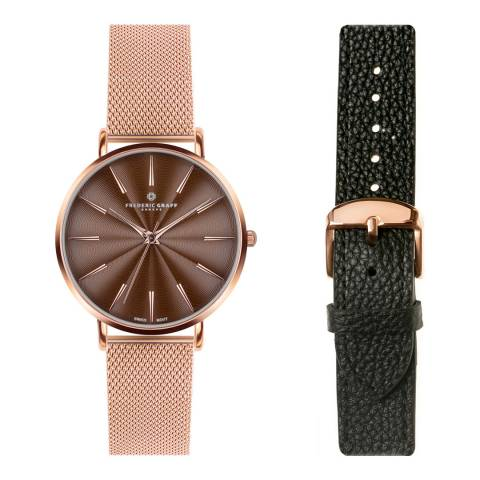 Frederic Graff Women's Rose Gold Mesh Monte Rosa Watch 38 mm
