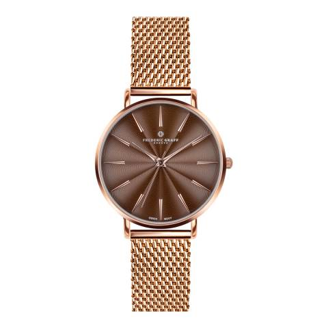 Frederic Graff Women's Rose Gold Black Monte Rosa Watch 38 mm