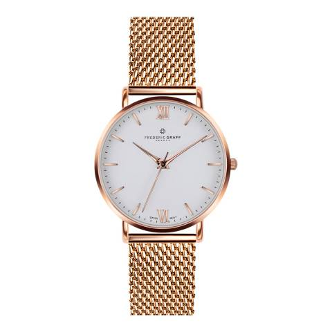 Frederic Graff Women's Rose Dent Blanche Matt Black Mesh 40mm