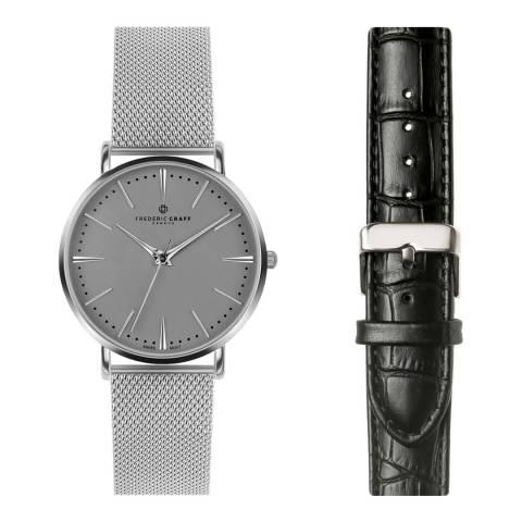 Frederic Graff Women's Silver/Black Watch 38mm