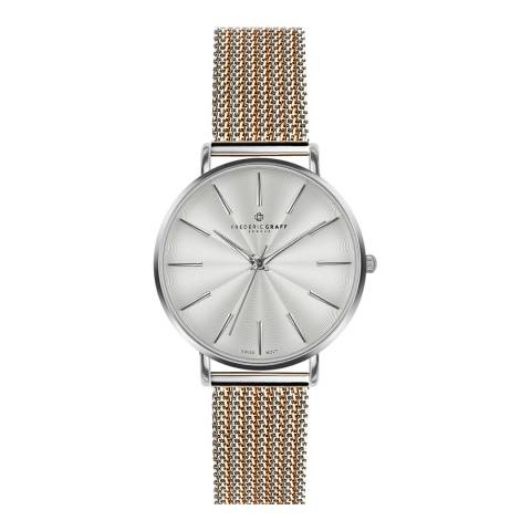 Frederic Graff Women's Silver/Rose Gold Mesh Monte Rosa Watch 38 mm