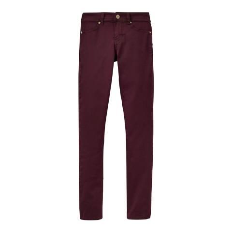 Joules Burgundy Monroe Skinny Jeans