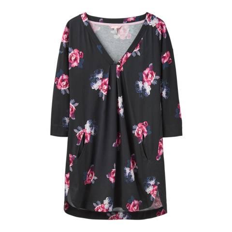 Joules Black Floral Elva Tunic