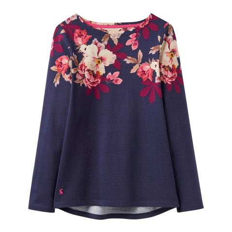 Joules Navy Harbour Printed Jersey Top