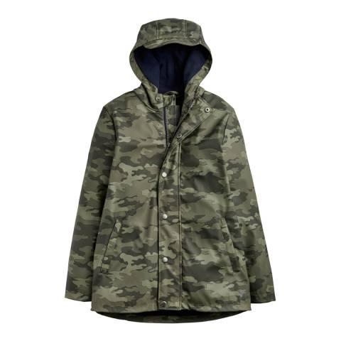 Joules Boys Dermot Waterproof Rubber Coat Camo