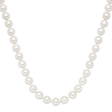 Perldesse White Organic Pearl Necklace 12mm 12mm