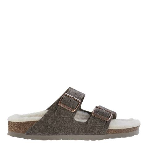Birkenstock Beige Wool Felt Arizona Buckle Sandals