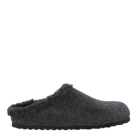 Birkenstock Grey Wool Felt Kaprun Slippers