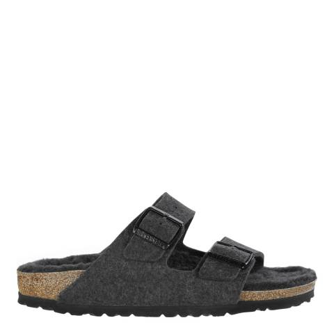 Birkenstock Black Wool Felt Arizona Sandals