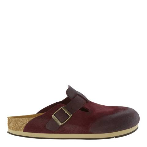 Birkenstock Bordeaux Suede Leather Boston Mules