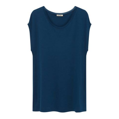 American Vintage Blue Ritonstate Wool T-Shirt
