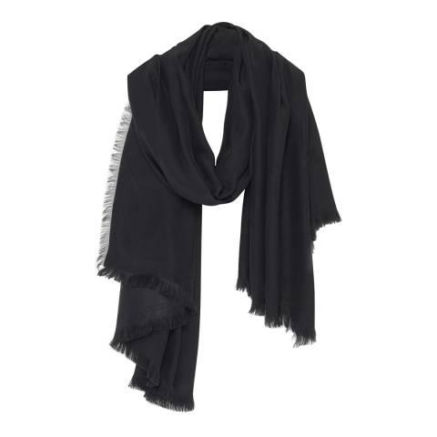 American Vintage Black Kassaway Silk Scarf