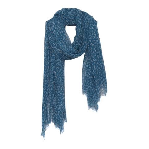 American Vintage Blue Ronyway Wool Blend Scarf