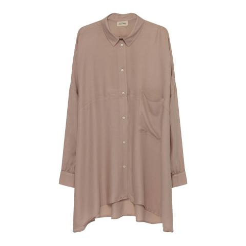 American Vintage Beige Button Through Long Sleeve Shirt