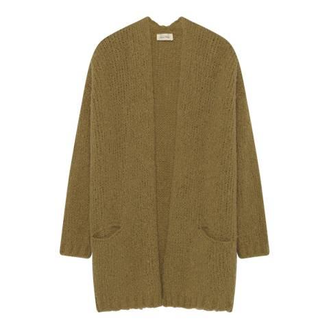 American Vintage Green Boolder Wool Blend Cardigan