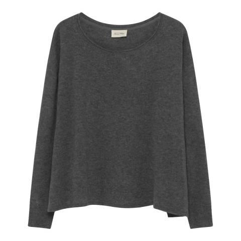 American Vintage Grey Svansky Wool and Cashmere Blend Cardigan