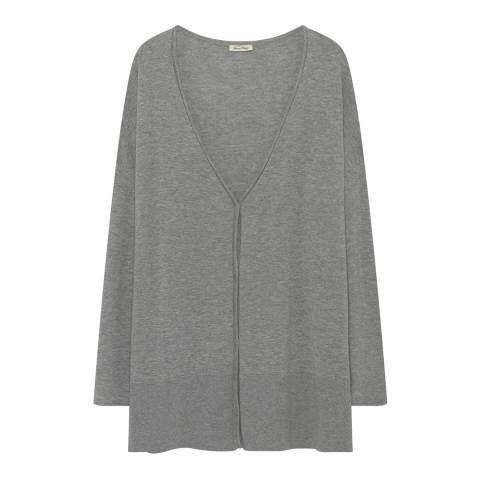American Vintage Grey V Collar Long sleeves Buttoned Cardigan