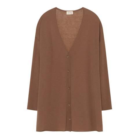 American Vintage Brown Magnolia Wool Blend Cardigan