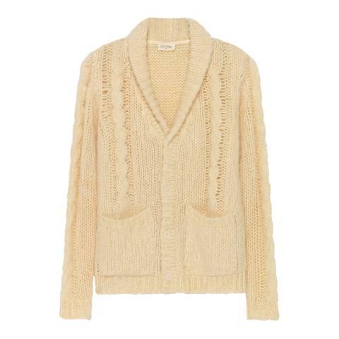 American Vintage Cream Bugins Valley Wool Blend Cardigan