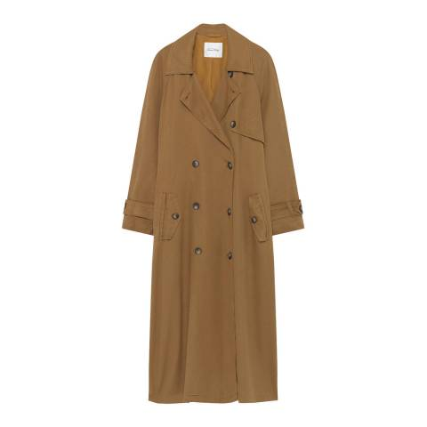 American Vintage Brown Derinaroad Trench Coat