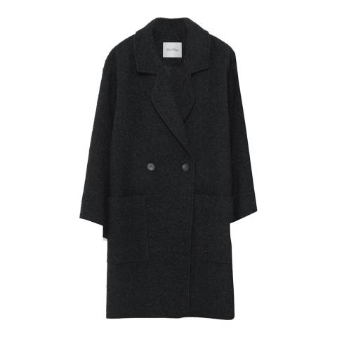 American Vintage Black Ricktown Wool Blend Coat