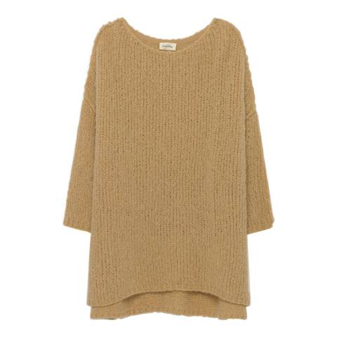 American Vintage Blue Long Pullover Boolder Wool Blend Sweater