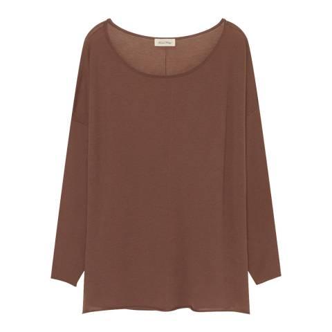 American Vintage Brown Magnolia Wool Blend Jumper
