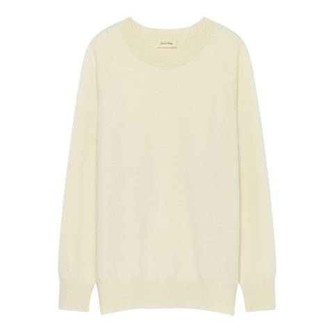 American Vintage Cream Maxim Cashmere Sweater