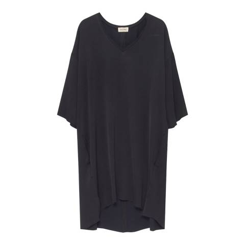American Vintage Black V- Neck 3/4 Sleeve Dress