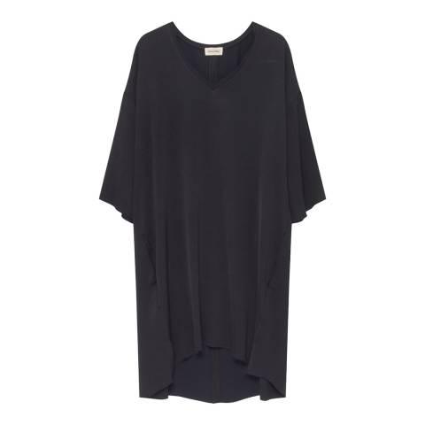 American Vintage Black V- Neck 3/4 Sleeve Dress