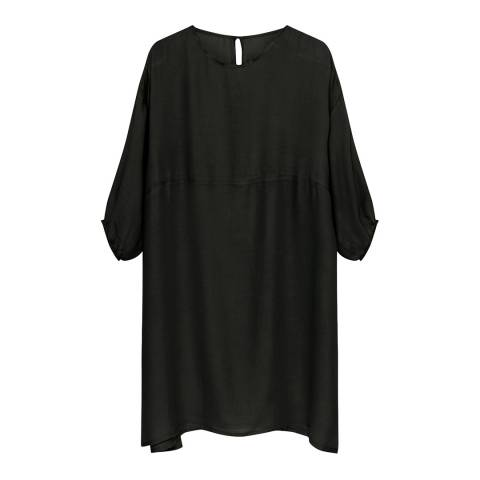 American Vintage Black Wide Neck 3/4 Sleeve Dress