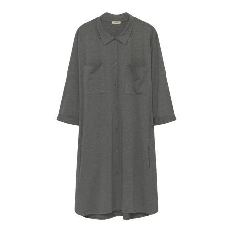 American Vintage Grey Button Through Shirt Dress