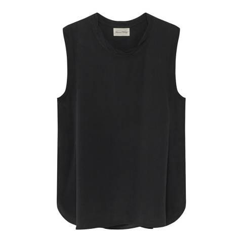 American Vintage Black Sleeveless Round Neck Top