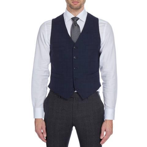Hackett London Midnight Mayfair Stretch Wool Waistcoat