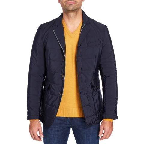 Hackett London  Navy Padded Blazer
