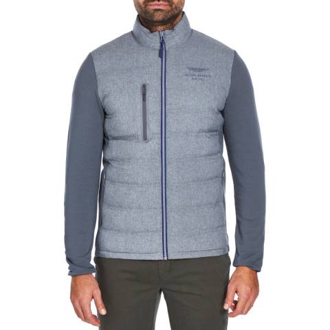 Hackett London Mid Grey Nylon Quilt Jacket