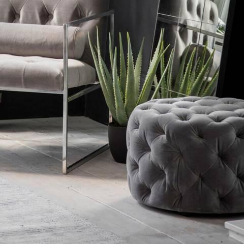Gallery Sergio Footstool Mirage Velvet