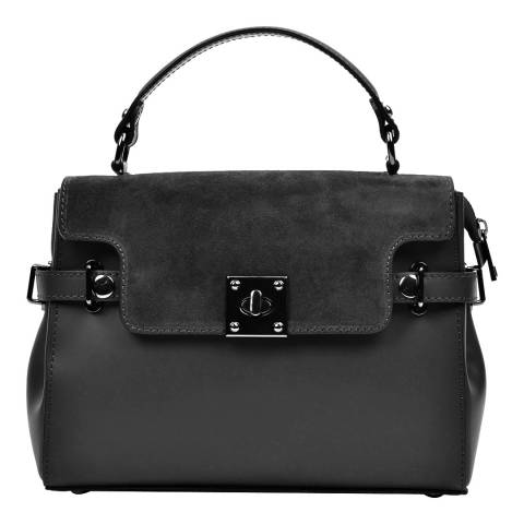 Carla Ferreri Black Carla Ferreri Top Handle Bag