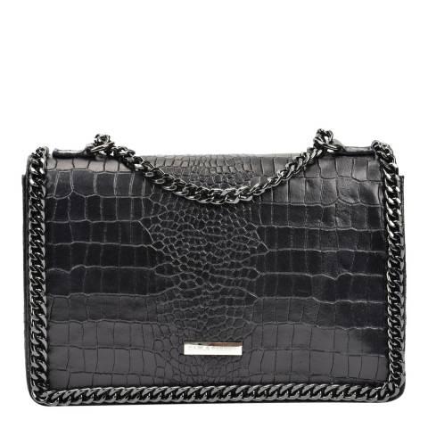 Carla Ferreri Black Chain Detail Shoulder Bag
